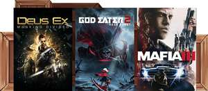 Humble Monthly Bundle : Deus Ex: Mankind Divided + God Eater 2 Rage Burst (+ God Eater Resurrection) + Mafia III (+DLC) + 4 jeux sur PC (Dématérialisés - Steam)