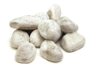 Sac de 20 kg de galets roulés en marbre Carrare - blanc, 40/60 à 8.95€ ou les trois à 17.9€