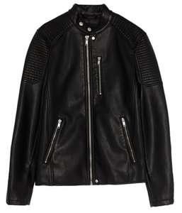 Blouson homme Pull and bear - Similicuir doublure 100% polyester