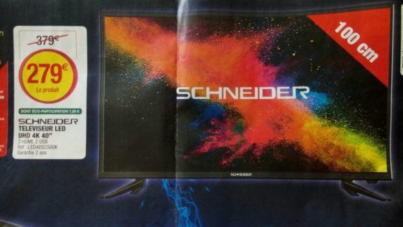 TV Schneider 40'' LED40SC500K - 4K UHD
