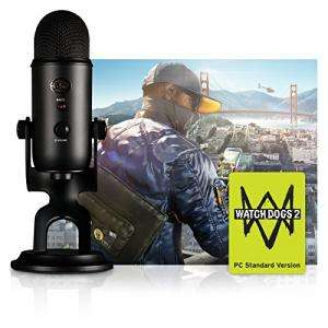 Pack Streamer - Microphone Blue Yeti Blackout Edition + Ghost Recon Wildlands ou Watch Dogs 2 sur PC