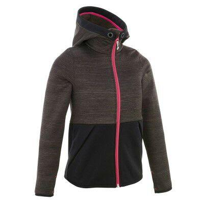 Polaire Quechua Hike 550 pour enfants - Taille 10/12 ans (Noir ou rose)