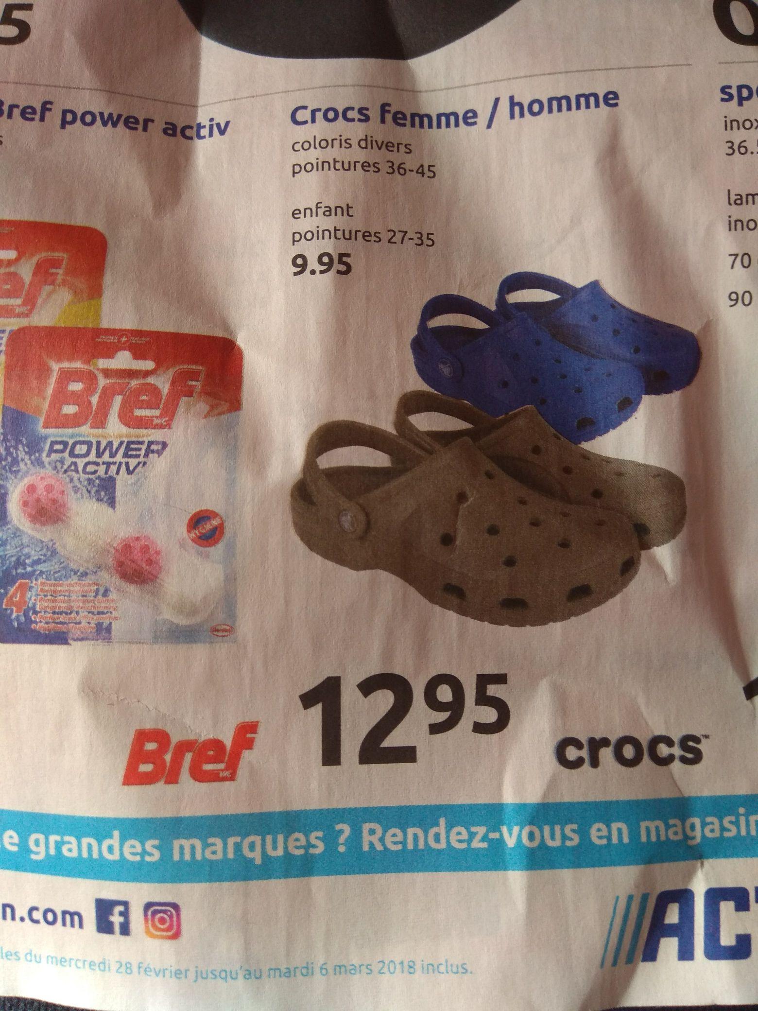 Sandales Crocs enfants et adultes