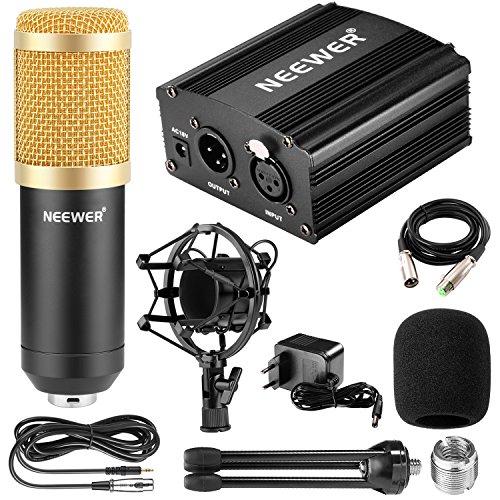Kit Microphone à Condensateur Neewer avec Support, Alimentation Phantom, Câble de XLR 3 Broches, Mini Trépied en Fer (Vendeur tiers)