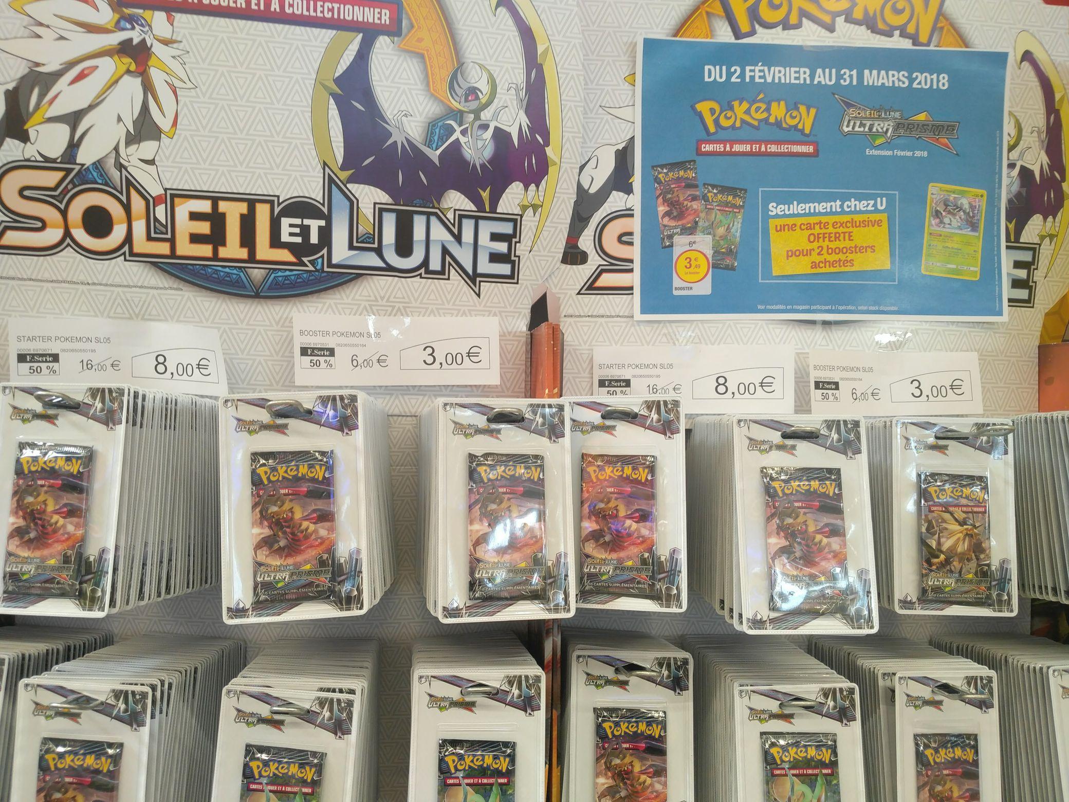 Sélection cartes Pokémon en promotion - Ex : booster SL5 3€ au lieu de 6 + 1 carte série limitée pour 2 achetés - Colombe (38)