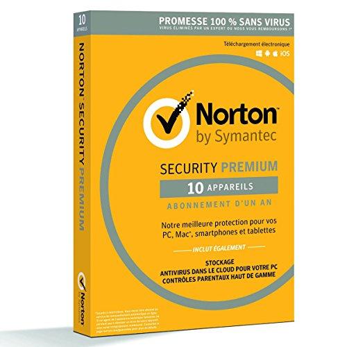 Antivirus Norton Security Premium 2018 - Licence 10 PC (1 an)