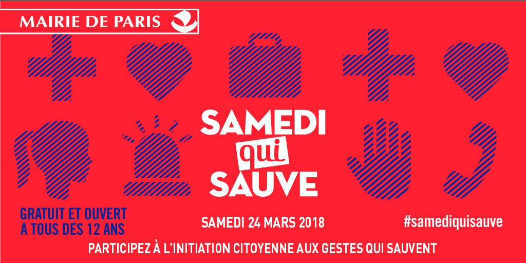 Initiations gratuites aux gestes de premiers secours - Samedi qui Sauve 2018 - (Paris 75)