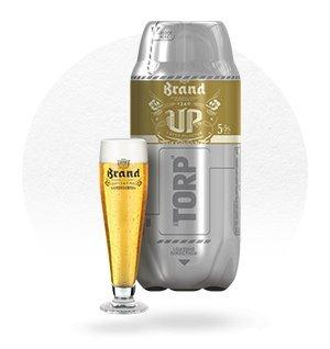 Fût de bière Torp Brand Up - 2 L (frais de port inclus)