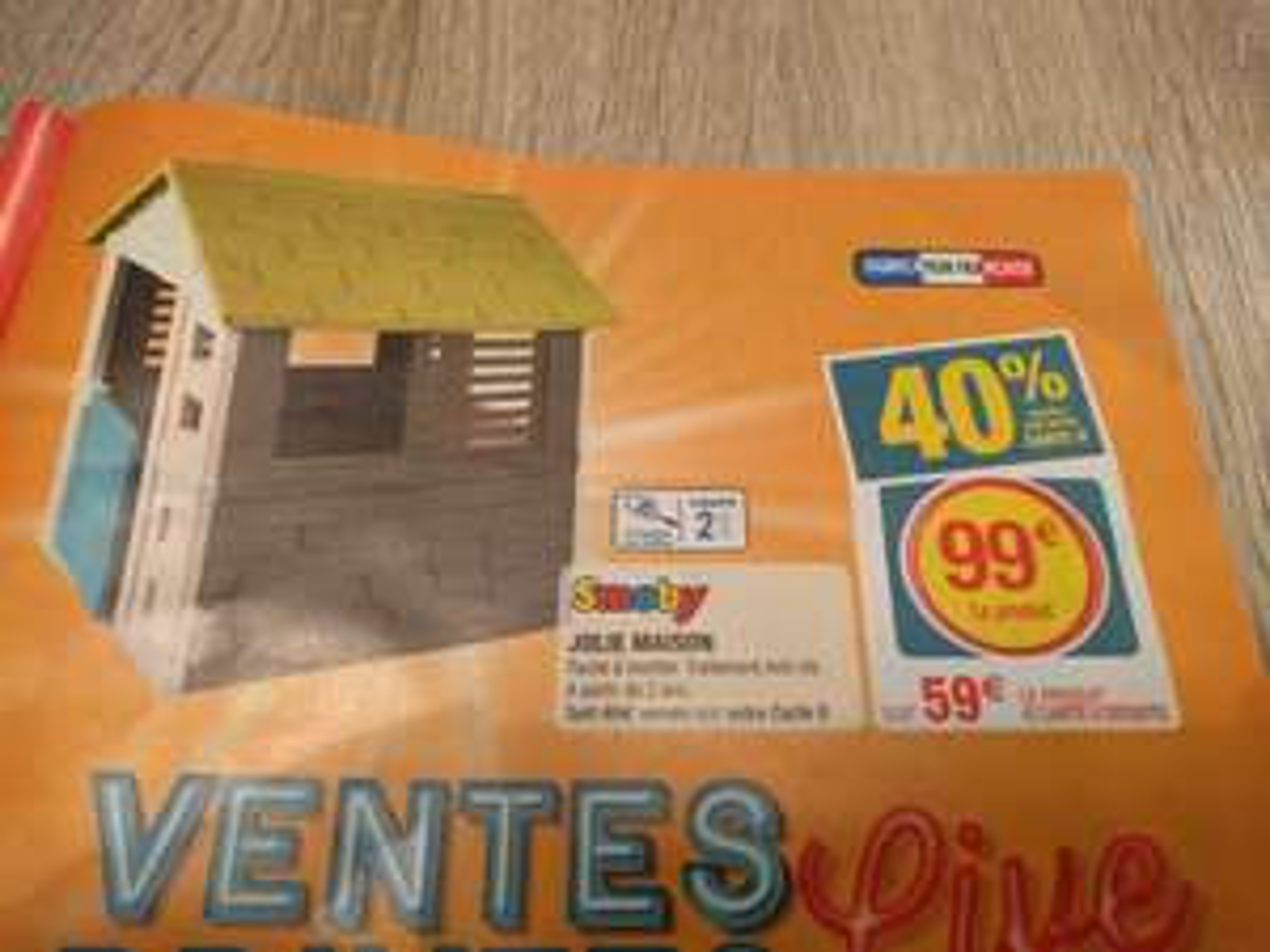 Maison pour enfant Smoby - en plastique (via 40€ sur la carte de fidélité)