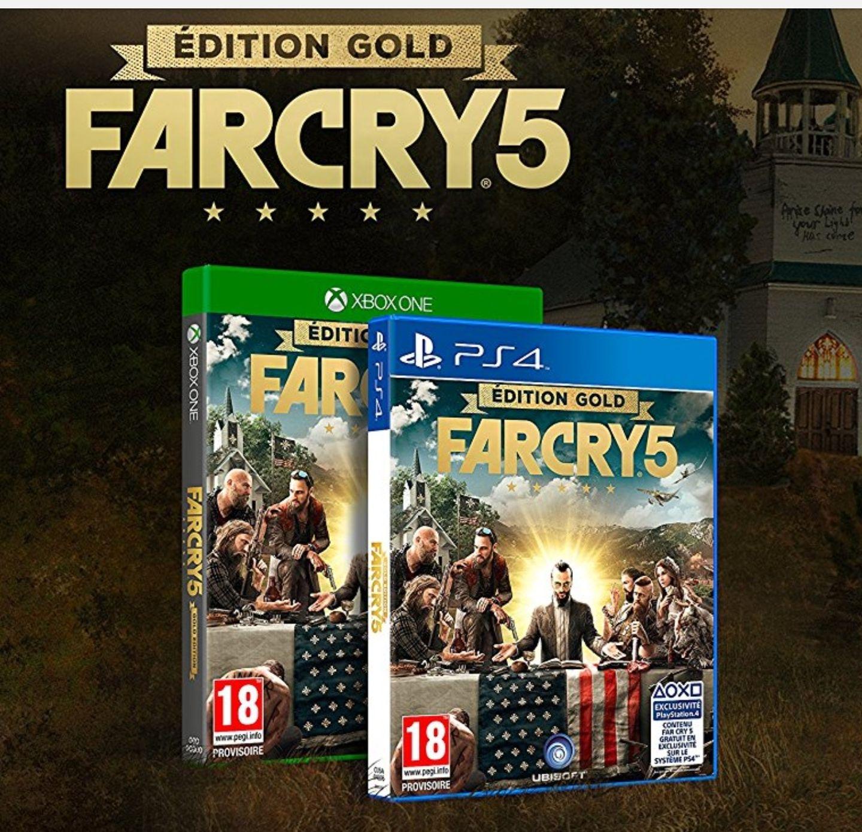 [Précommande] Far Cry 5 Gold Edition - Le jeu + Season pass sur PS4 ou Xbox One