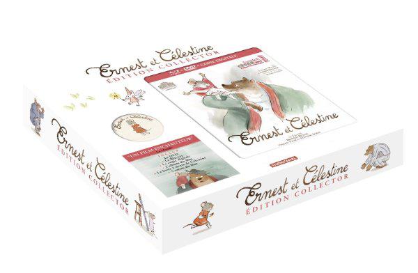 Coffret Ernest et Célestine - Édition collector - Blu-ray + DVD + Copie digitale