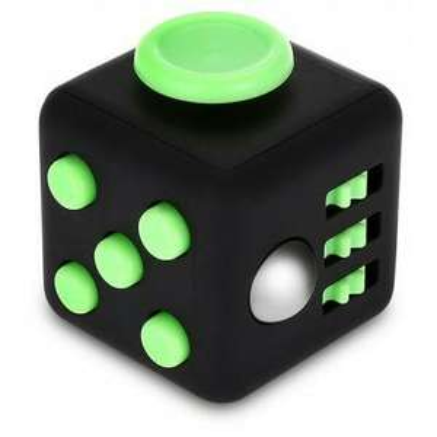 Cube anti-stress - Noir/ Vert
