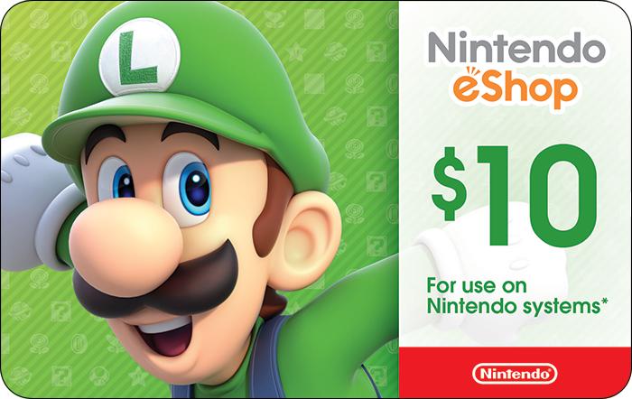 Carte Nintendo eShop US dématérialisée de 8.05€ (10$)