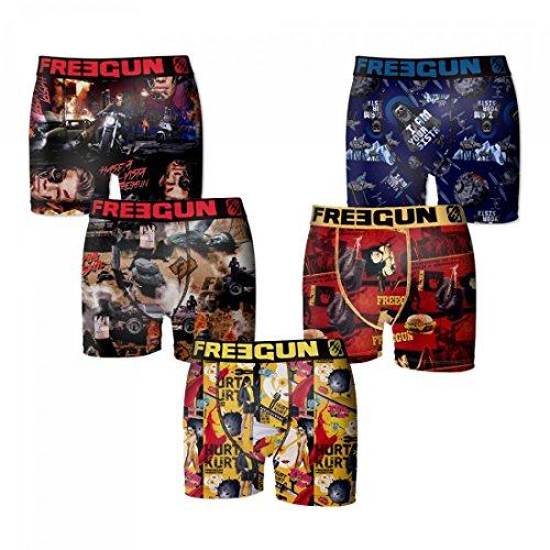 Lot de 5 boxers Homme Freegun - Taille S (vendeur tiers)