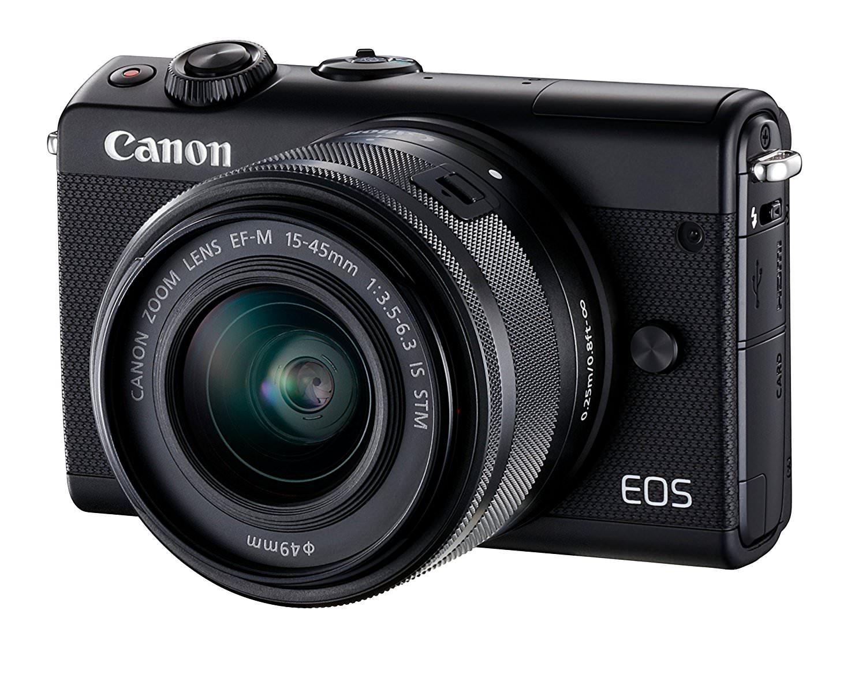 [Prime ES] Appareil Photo Numérique Canon EOS M100 Noir + Objectif 15-45MM - 24,2Mpix, Bluetooth