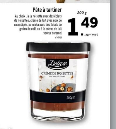 Pate à tartiner Deluxe - Différentes variétés, 200g