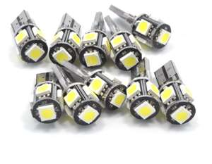Lot de 10 ampoules LED T10
