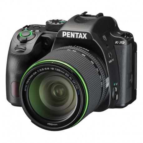 Appareil photo numérique reflex Pentax K-70 (24.24 Mpix, CMOS) + objectif 18-135 mm WR (+ 33.50€ en SuperPoints)