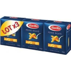 Lot de 3 paquets de pâtes Barilla - 3 x 500G