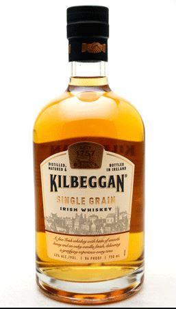 Bouteille d'Irish Whiskey Kilbeggan Single Grain - 70cl (Via Carte de Fidélité)