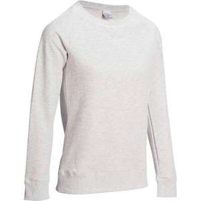Sweatshirt 100 Gym à Col Rond pour Femme - Gris
