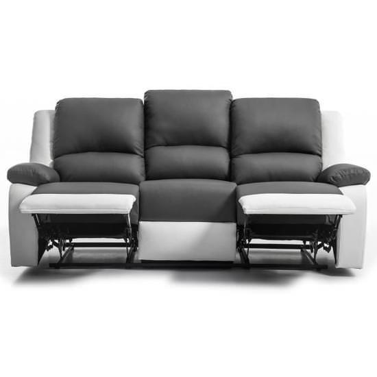 Canapé relaxation contemporain Relax - Simili Cuir - L 190 x P 93 cm