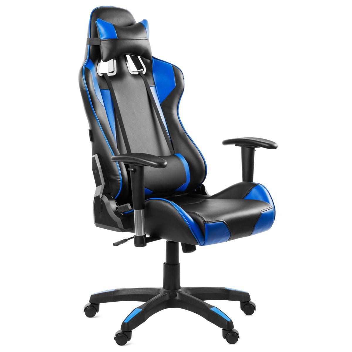 Fauteuil de Bureau Mchaus Sport Gamer Rembourrage ergonomique (Bleu, rouge ou gris) - Livraison gratuite