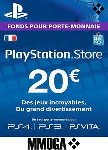 Carte Sony PlayStation Store de 20€ (dématérialisée)