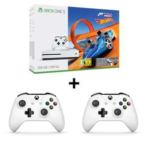 Console Microsoft Xbox One S 500 Go + 2ème manette + Forza Horizon 3 Hot Wheels (Frontaliers Suisse)