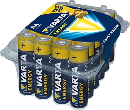 [Panier Plus] Lot de 24 Piles Alcalines Varta Energy Mignon AA