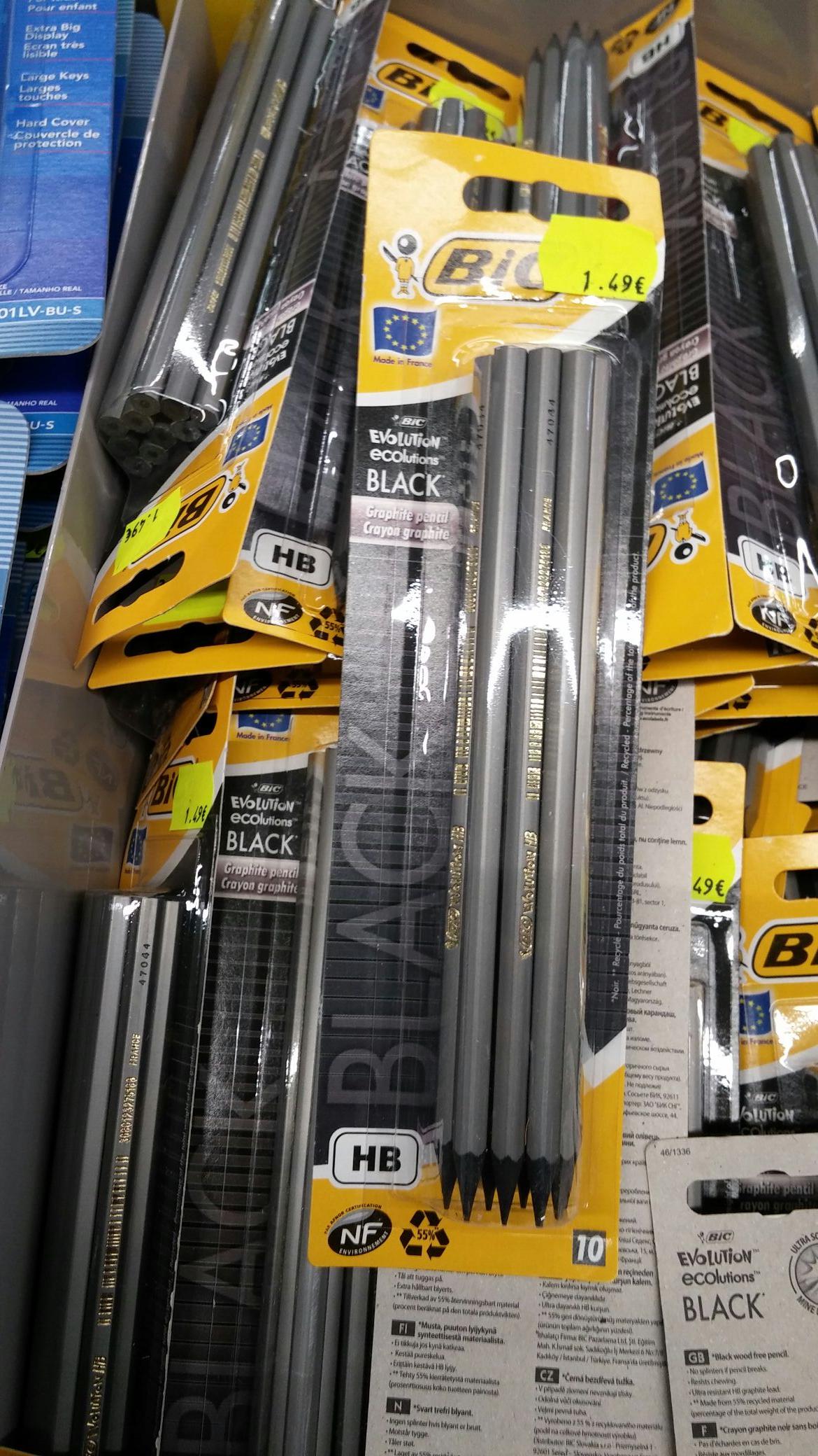 Pack de 10 crayons de papier Bic Eco Graphite Black - HB