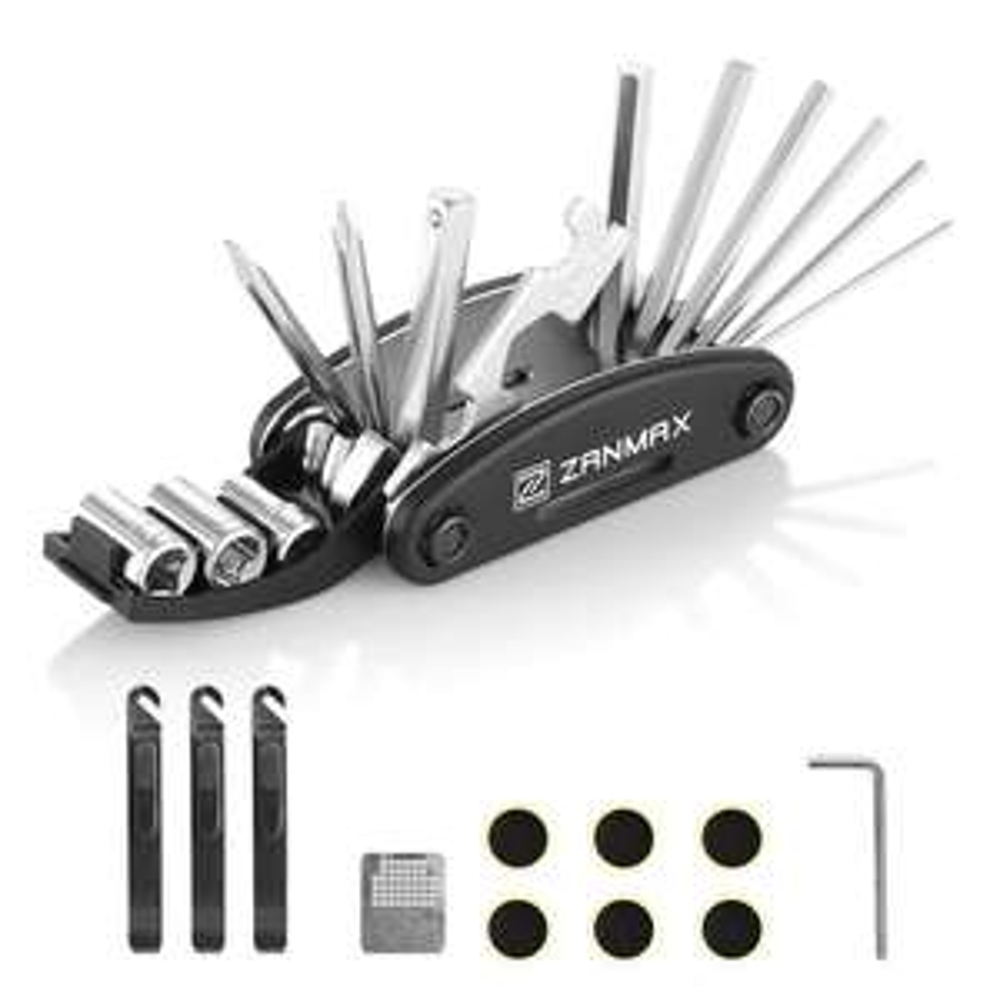 Multi-outils ZANMAX 3201 pour vélos + kit réparation