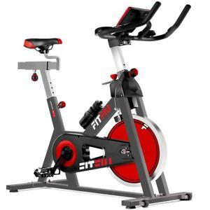 Vélo d'appartement Fitfiu - Ecran LCD, Cardio fréquenc, roue d'inertie 24kg