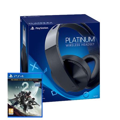 Casque PS4 sans fil Sony Platine + Destiny 2  (+10€ sur le compte fidélité pour les adhérents)