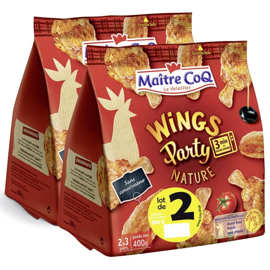Selection de produits en promotion à -50% (via carte fidélité) - Ex: Wings Party Maitre Coq (2x 400g) à 4,20€