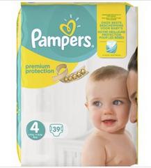Pack de Couches Premium Protection Géant Pampers - Tailles au choix (via BDR + Carte de Fidélité)