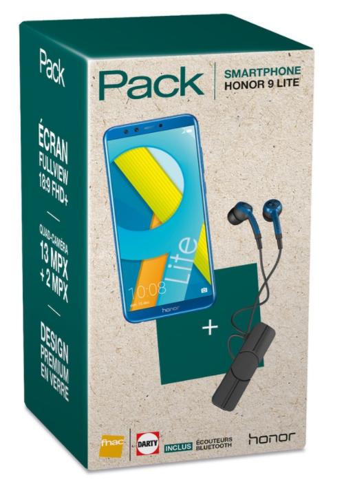 """Smartphone 5.65"""" Honor 9 Lite bleu - Kirin 659, 3 Go de RAM, 32 Go de ROM + Écouteurs bluetooth (Via ODR 30€)"""