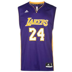 Jerseys Adidas Los Angeles Lakers 2016-2017 (du XS au L) - Violet ou jaune (via l'Application)
