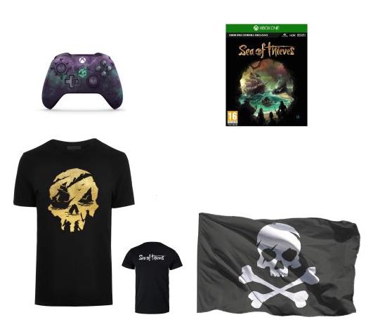 [Précommande] Pack Fnac Sea of Thieves Manette Xbox One sans fil Microsoft Edition Limitée + Jeu + T-Shirt + Drapeau Pirate