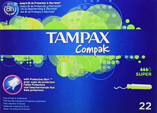 [Panier Plus] Lot de 3 Paquets de Tampons Tampax Compak Super avec Applicateur en Plastique - 3 x 22