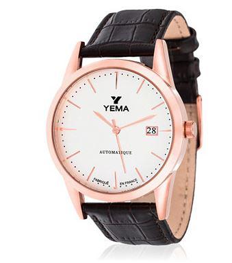 Montre automatique Yema bracelet cuir