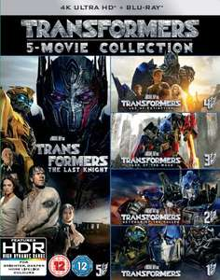 Coffret Blu-Ray UHD 4K Transformers: 1-5 (5 films)