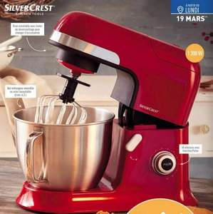Robot de cuisine silvercrest 1300w for Robot de cocina silvercrest