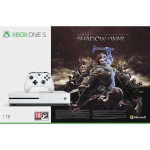 Pack Console Microsoft Xbox One S (Blanc) - 1 To + Middle-earth: Shadow of War