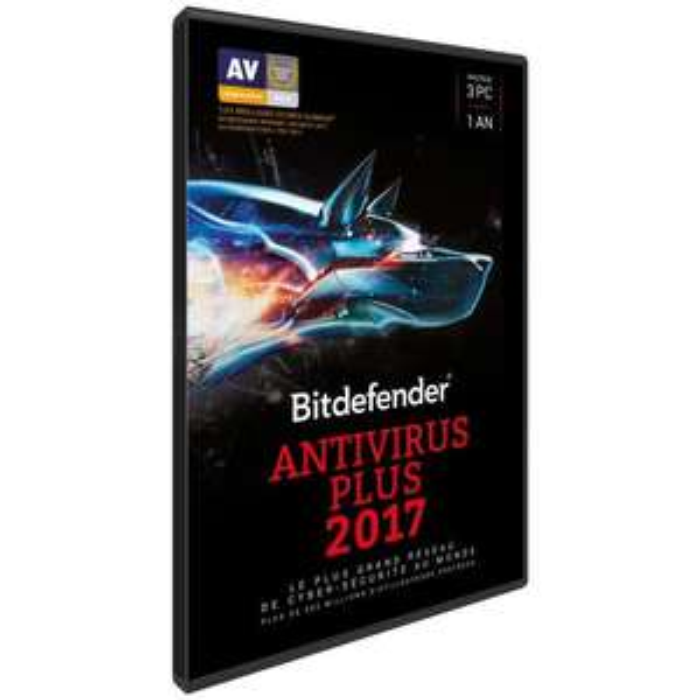 Boite Licence Bitdefender Antivirus Plus - 1 An / 3 PC