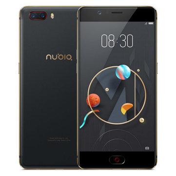 """Smartphone 5.5"""" Nubia M2 - Snapdragon 625, 4Go RAM, 64Go (avec B20) - Noir ou Or"""