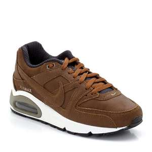 Baskets en cuir Nike Air Max Command PRM - Marron