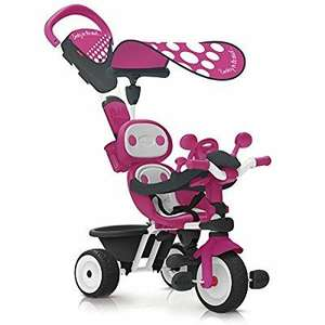 Tricycle Evolutif avec Roues Silencieuses Smoby Baby Driver Confort - Rose