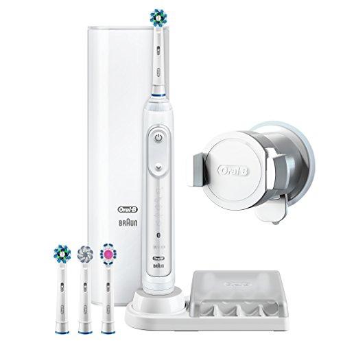 Brosse à dents électrique Oral-B Genius 9000N  + 4 brossettes + étui de voyage USB (via ODR 35€)