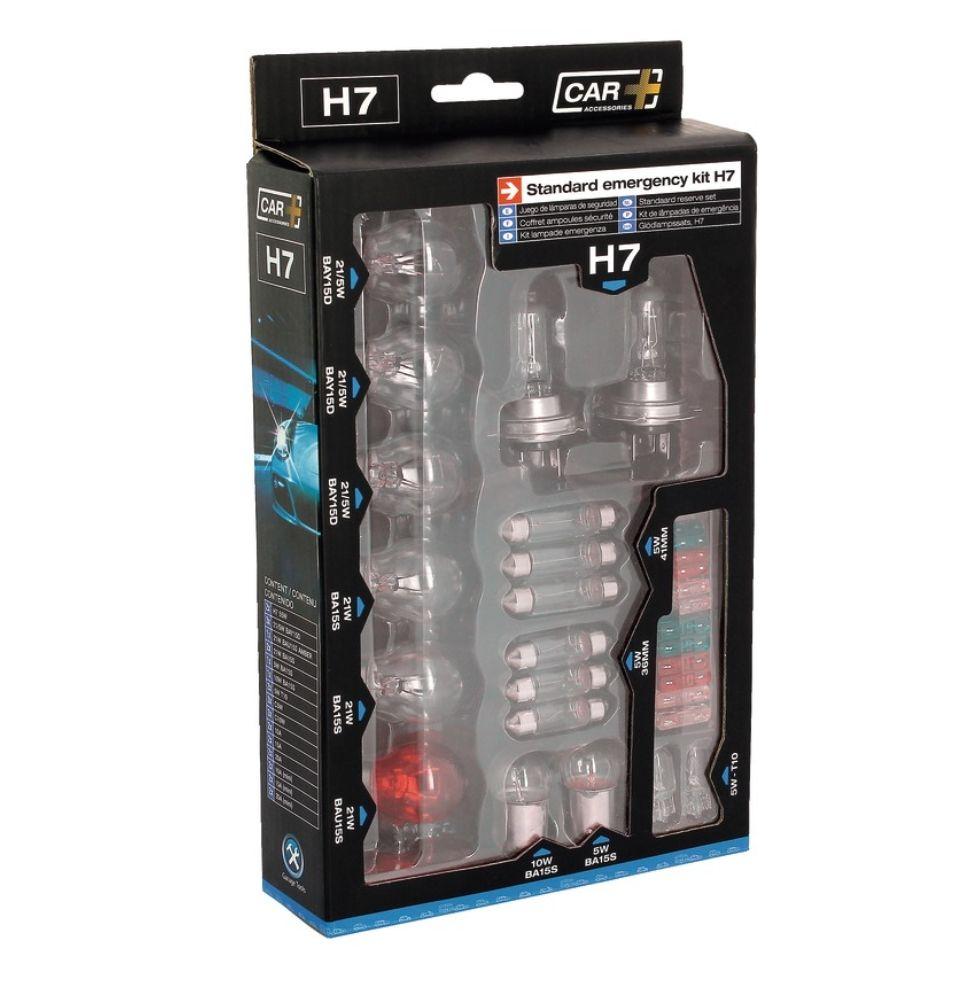 Coffret d'Ampoules de Remplacement Auto (H7, H4 ou H1) - 16 Ampoules + 12 Fusibles